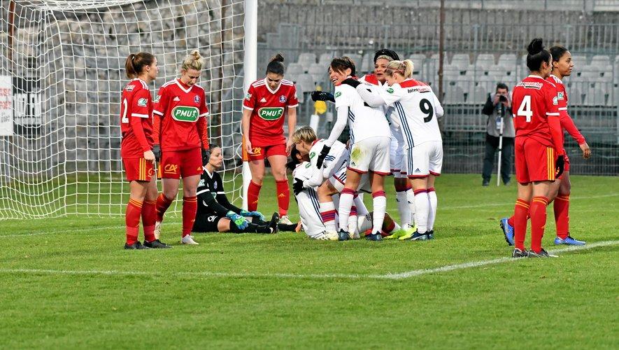 Joie lyonnaise et déception ruthénoise lors du troisième but signé Wendie Renard.