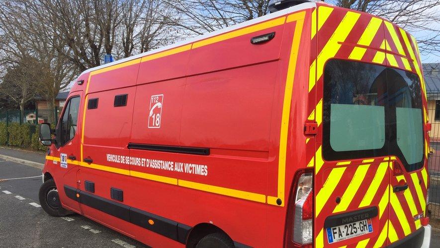 Les sapeurs-pompiers sont intervenus ce lundi après-midi vers 14 heures.