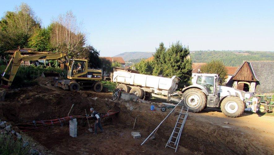 Les travaux concernent notamment le plan d'eau du pré de la Garrigal.