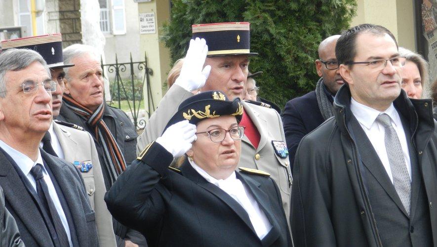 La nouvelle sous-préfète de Villefranche lors de sa cérémonie de prise de fonction, lundi matin.
