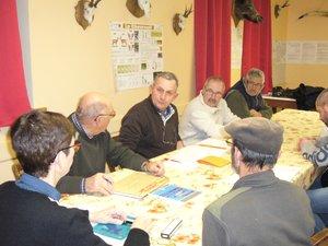 Les chasseurs de la Saint-Hubert se sont retrouvés au gîte des Pesquiés pour mettre au point leur soirée sanglier du 2 février.