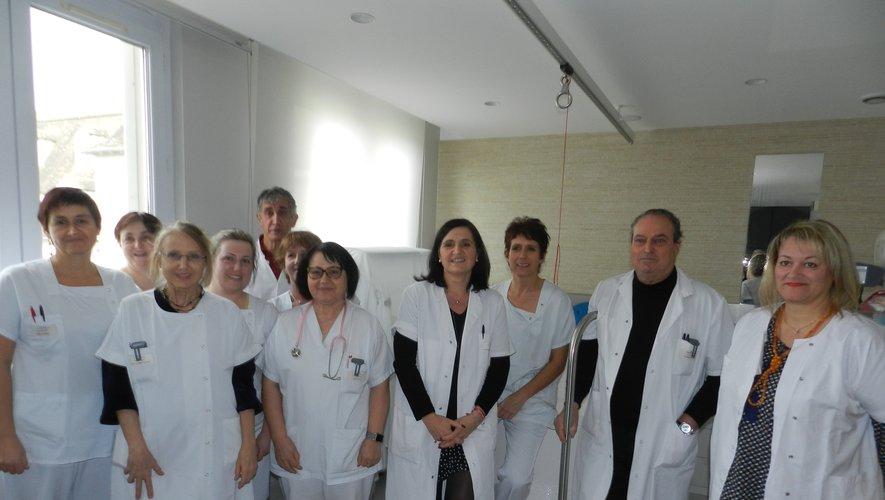Une partie de l'équipe de la maternité, dirigée jusqu'à la fin de l'année par le Dr Castex.