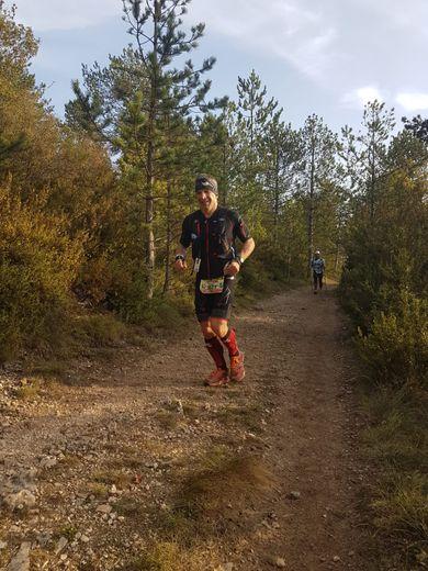 Sébastien Granié, licencié  à Rodez Triathlon 12,  sur l'Endurance trail des Templiers cet automne.