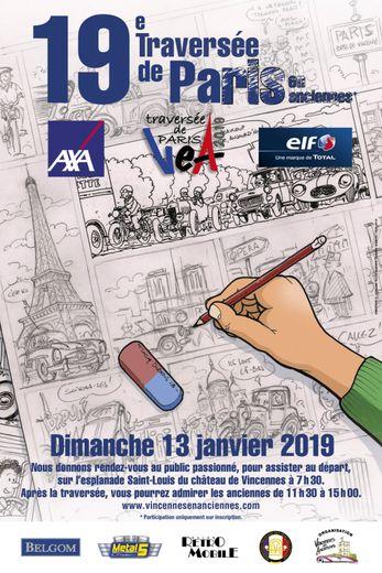 L'univers de la BD sera au coeur de la Traversée de Paris hivernale du 13 janvier 2019.