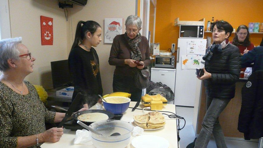 Odile Carré, la déléguée Téléthon est venue, elle aussi, acheter ses crêpes