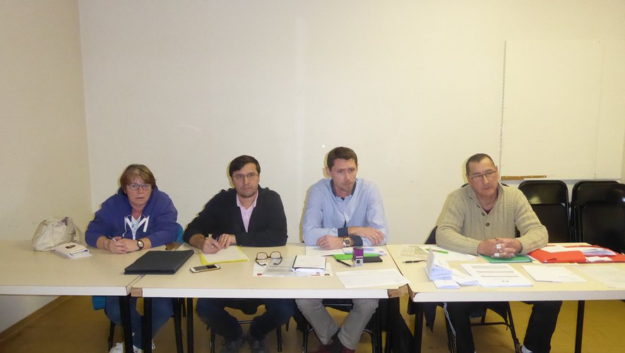 Le nouveau bureau avec de gauche à droite, Denise Bayvet, Pierre Guiral, Damien Viguier et Pascal Parnet.