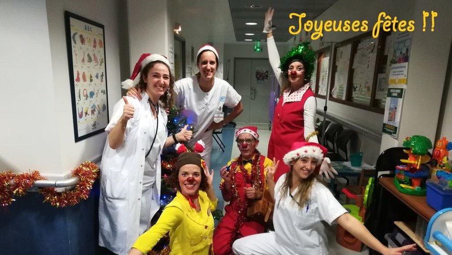 Les Six Faux Nez font sourire  les enfants hospitalisés