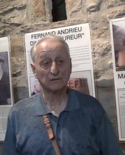 Fernand Andrieu, au cours de ces visites au musée de Villelongue.