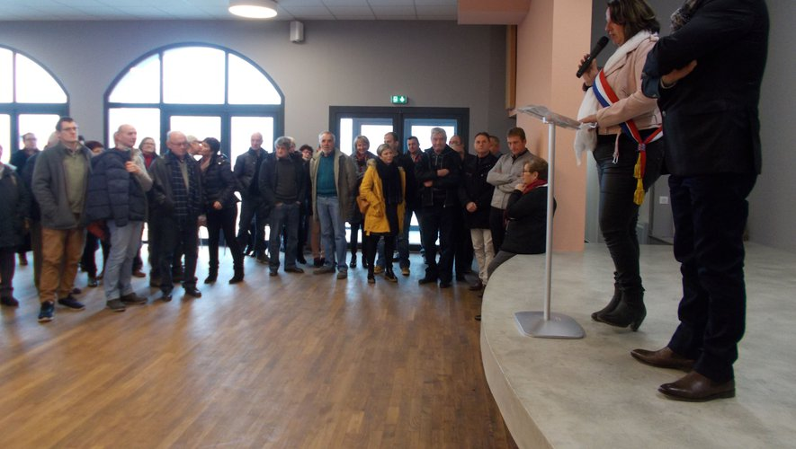Présentation des vœux de la municipalité de Saint-Santin aux habitants de la commune.