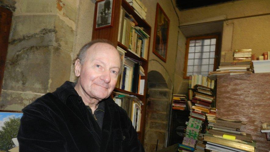 Patrice Lesueur dans sa librairie de la rue du Sénéchal,ouverte il y a trente ans.