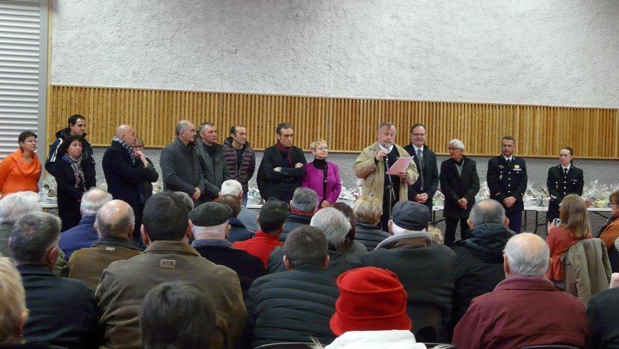 Les convives ont assistéaux vœux de la municipalité.