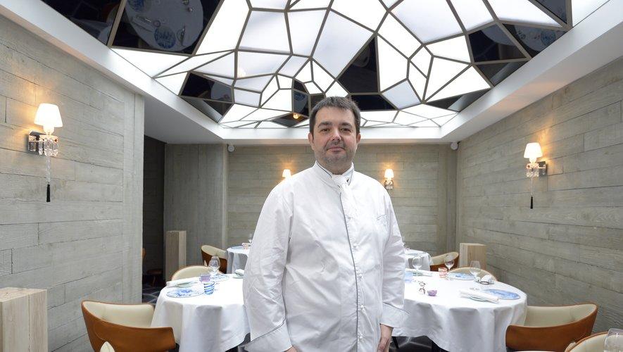 """Jean-Francois Piège dans son """"Grand restaurant """" à Paris"""