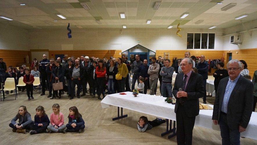 Le public rassemblé pour les vœuxde la municipalité.