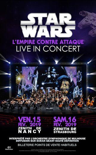 """""""Star Wars, l'Empire contre attaque"""" en live concert à Nancy et Strasbourg."""