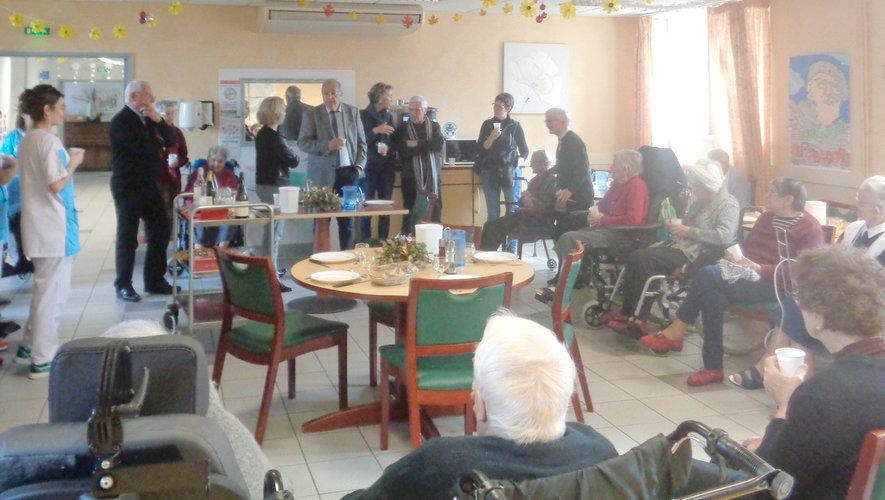 Le maire, Christian Vergnes a présenté ses vœux aux résidents de l'Ehpad Sainte-Marthe.