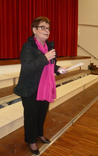 Marie-Louise Gayraud, la présidente de Prim'Aub'Song.