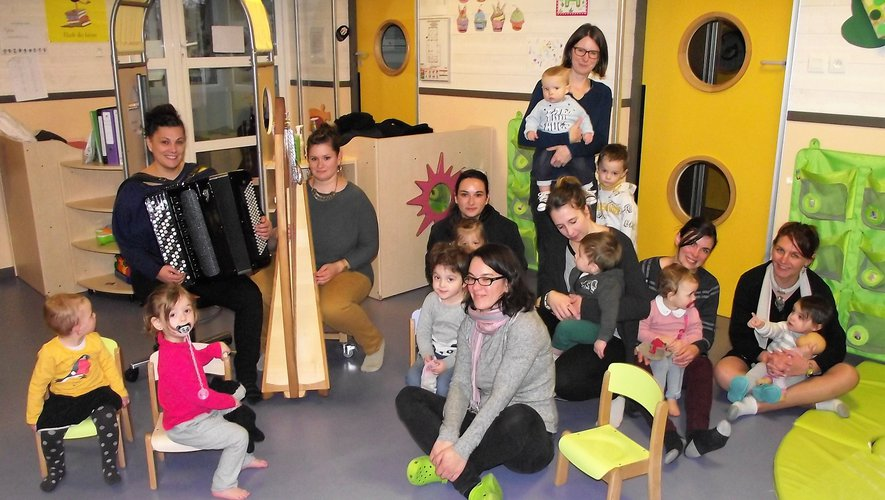 Les bambins ont beaucoup aimé la musique proposée.