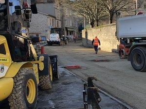 Les engins de chantier sont à l'œuvre rue de l'Hôtel-Dieu./ DDM, MCB
