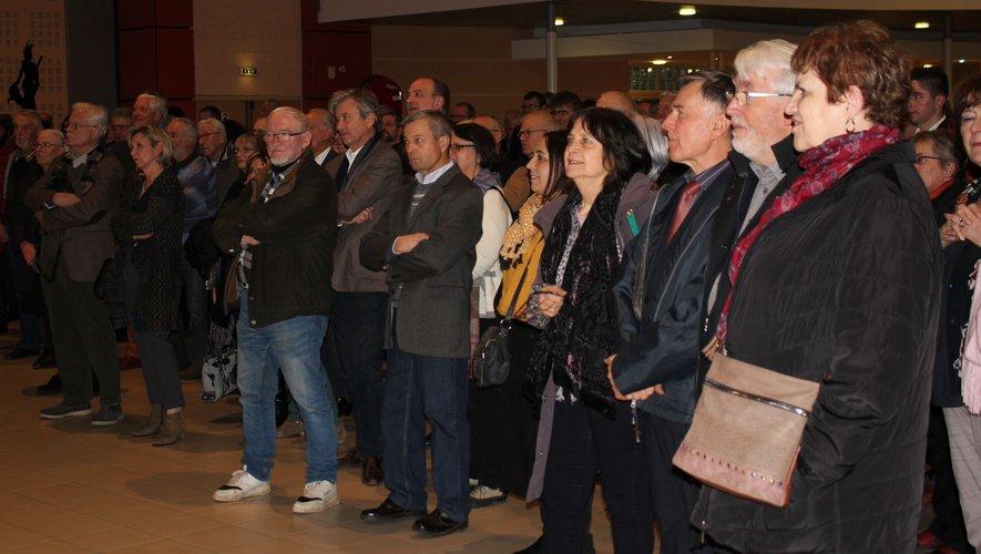 Plusieurs centaines de personnes étaient rassemblées au Laminoir pour les vœux de Nouvel An d'Anne Blanc.