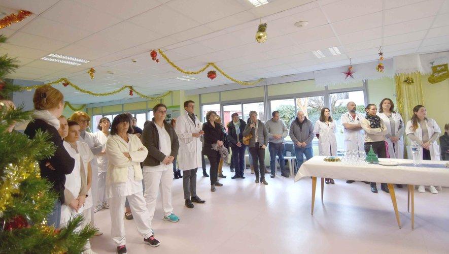 L'assistance à la cérémonie des vœux au centre hospitalier Étienne Rivié,