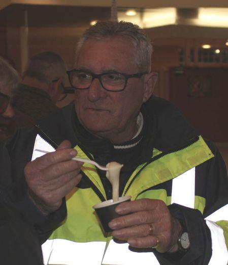 Lors de la cérémonie des vœux du nouvel an de François Marty, l'aligot a filé dans les barquettes.