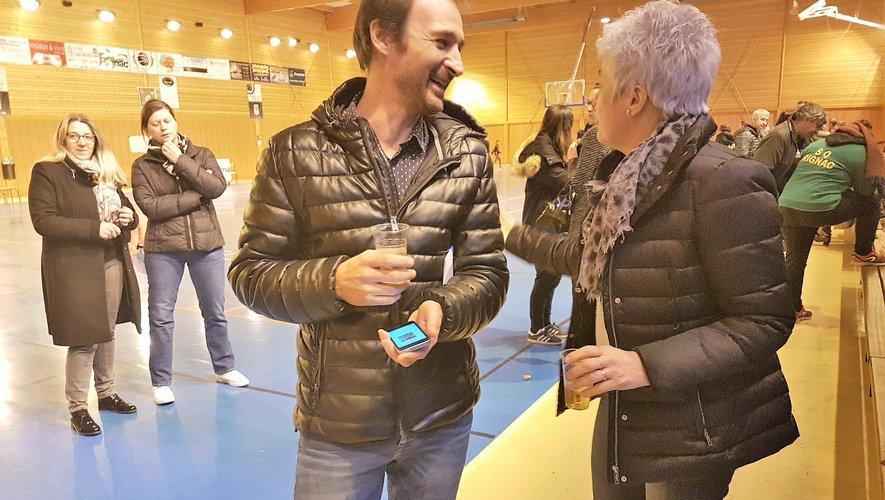 Xavier Blazy avec Isabelle Mirabel, la première adjointe représentant le maire.