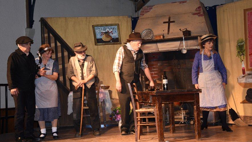 La pièce de théâtre était donnée par la Pastourelle de Rodez.