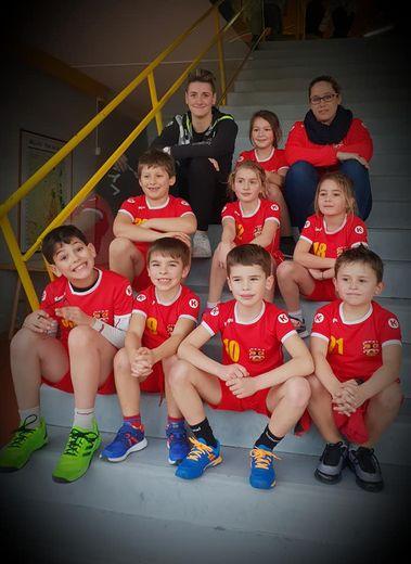 Les moins de 9 ans étaient à Millau pour un tournoi.