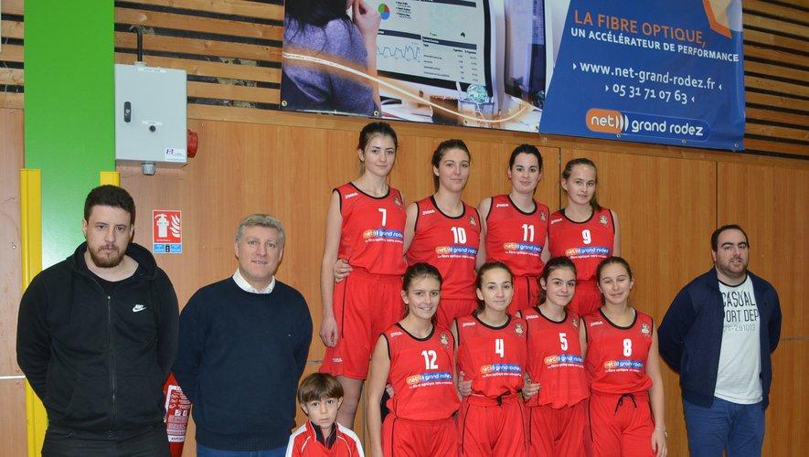 L'équipe I des U18 filles .