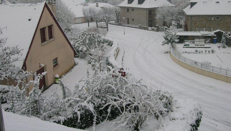 Hier matin, le manteau blanc recouvrait l'Espalionnais.