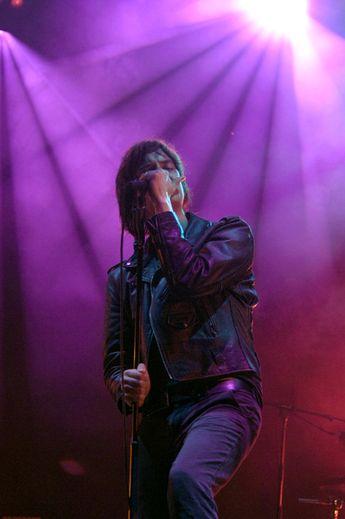 Julian Casablancas of US band The Strokes