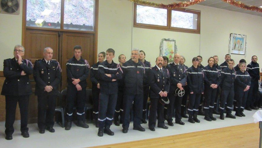 La grande famille des soldats du feu se retrouvait ensuite à la salle des fêtes du Causse pour partager le repas concocté par le traiteur Barrié de Montézic.
