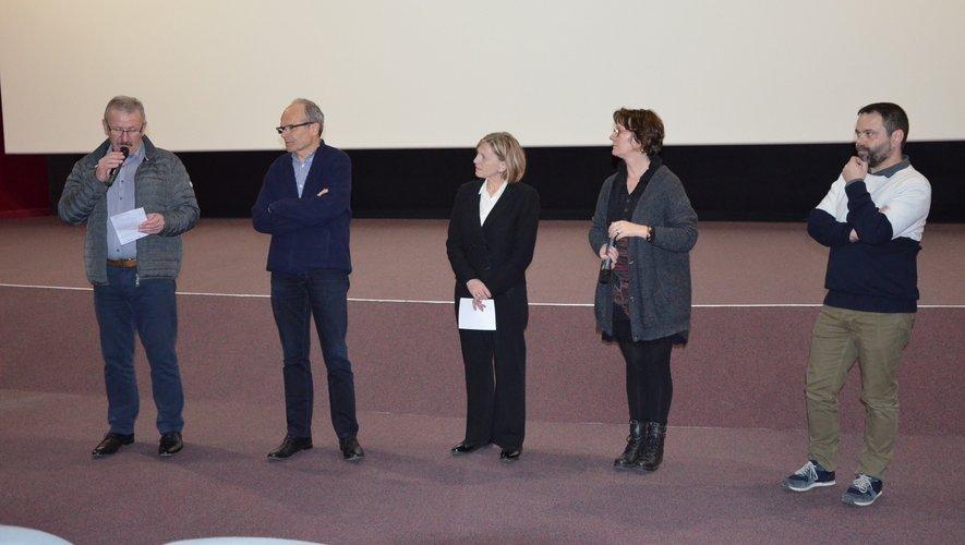L'ouverture de la soirée avec Roland Joffre, François Marty, Colette Scudier et Arnaud Second.