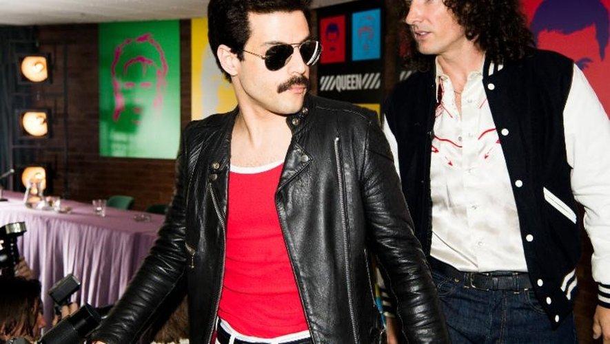 """Rami Malek (Freddie Mercury) et Gwilym Lee (Brian May) dans """"Bohemian Rhapsody"""""""