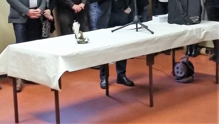 Le maire adressant les vœuxà la population.