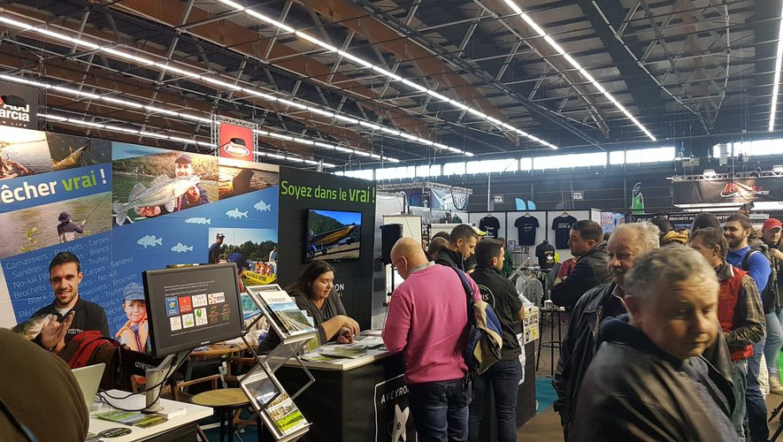 L'Aveyron tire toujours bien son épingle du jeu au grand salon de la pêche de Clermont-Ferrand.
