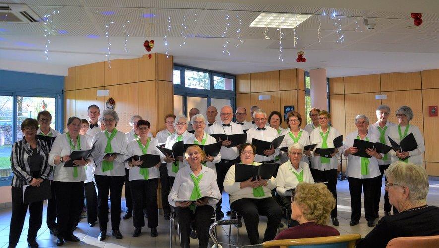 La chorales des Alertes, lors d'un concert aux Peyrières en décembre.