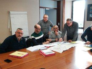 Enedis finalisait avec les élus le déroulement  des travaux.
