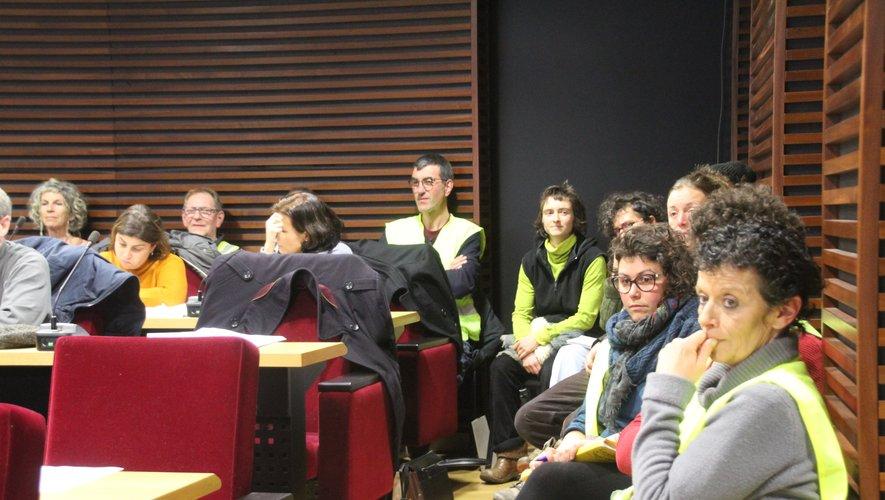 Les membres des Gilets jaunes Occitanie étaient en nombre jeudi soir.