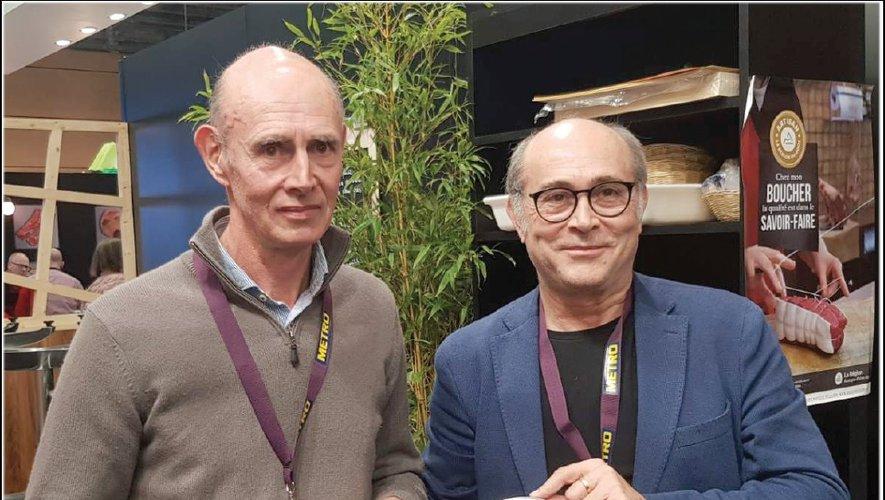 Jacques et Bernard Greffeuille avec les distinctions reçues au Sirha, à Lyon, cette semaine.