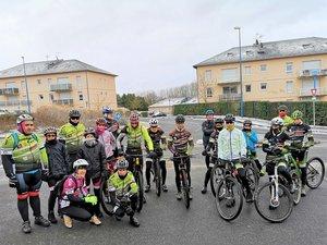 Ils étaient vingt cyclistesau rendez-vous dominical.
