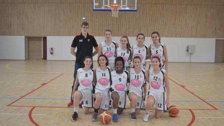 L'équipe féminine U18 qui s'est imposée 52 à 41 à Martiel.