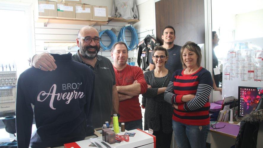 L'équipe de l'entreprise qui avec Brod'Aveyron ajoute une corde à son arc.