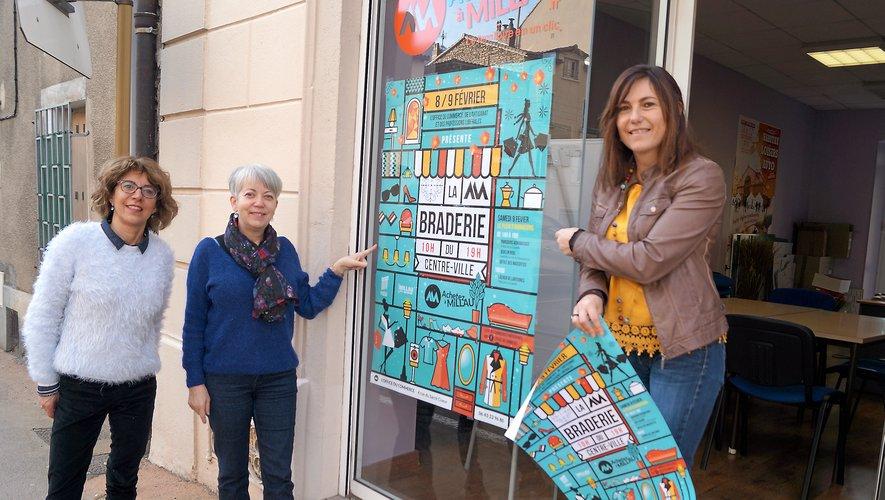 Christine Galindo, Sandrine Loubat et Christèle Wegener organisent la manifestation.