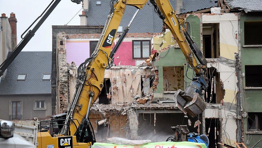 Les travaux de démolition de la rue Béteille ont démarré ce jeudi 7 février.