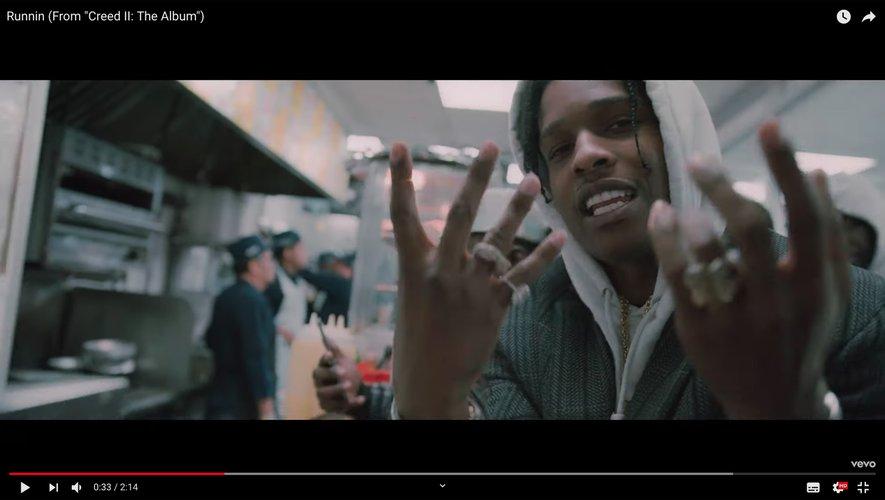 """A$AP Rocky dans le clip de """"Runnin""""."""