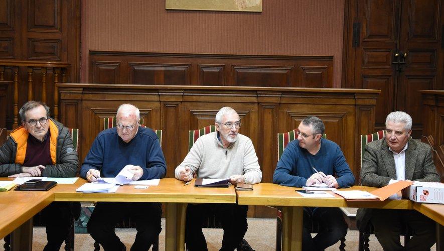 Le président Pierre-Jean Bousquet entouré de  Jean-Michel  Caseyne et  Stéphane Lacombe.