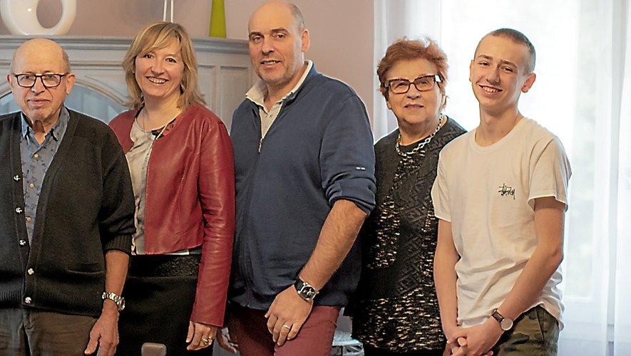 Deux générations de Guy au Bec Fin. Et peut-être la troisième ? De gauche à droite : Charles, Béatrice, Bruno, Josette et Nathan, un des enfants de Béatrice et Bruno.