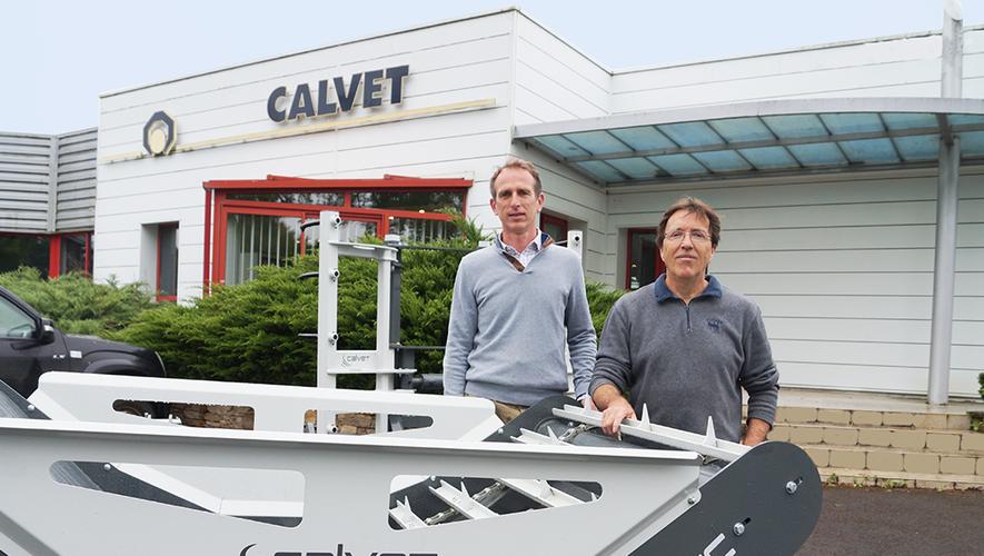 Régis Legendre (à gauche), président de Lucas G. et de Calvet, et Gilles Calvet, directeur de Calvet.