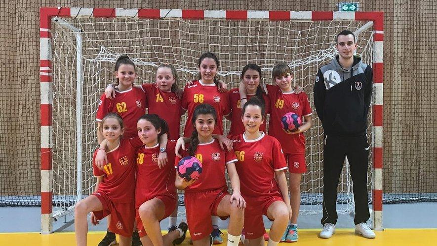 L'équipe des moins de 13 ans filles.